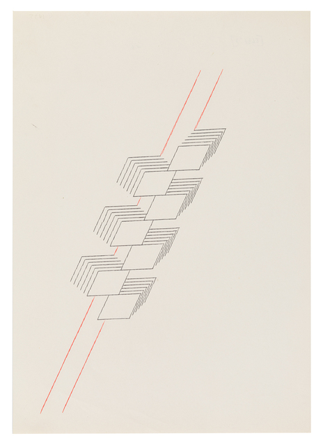 , 'seven stacked squares on two lines,' ca. 1972, Richard Saltoun
