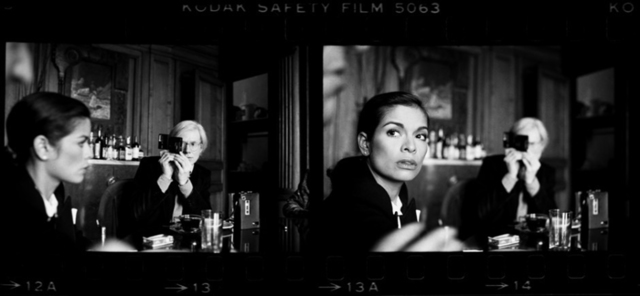 , 'Andy Warhol and Bianca Jagger at The Factory, New York,' 1977, Staley-Wise Gallery