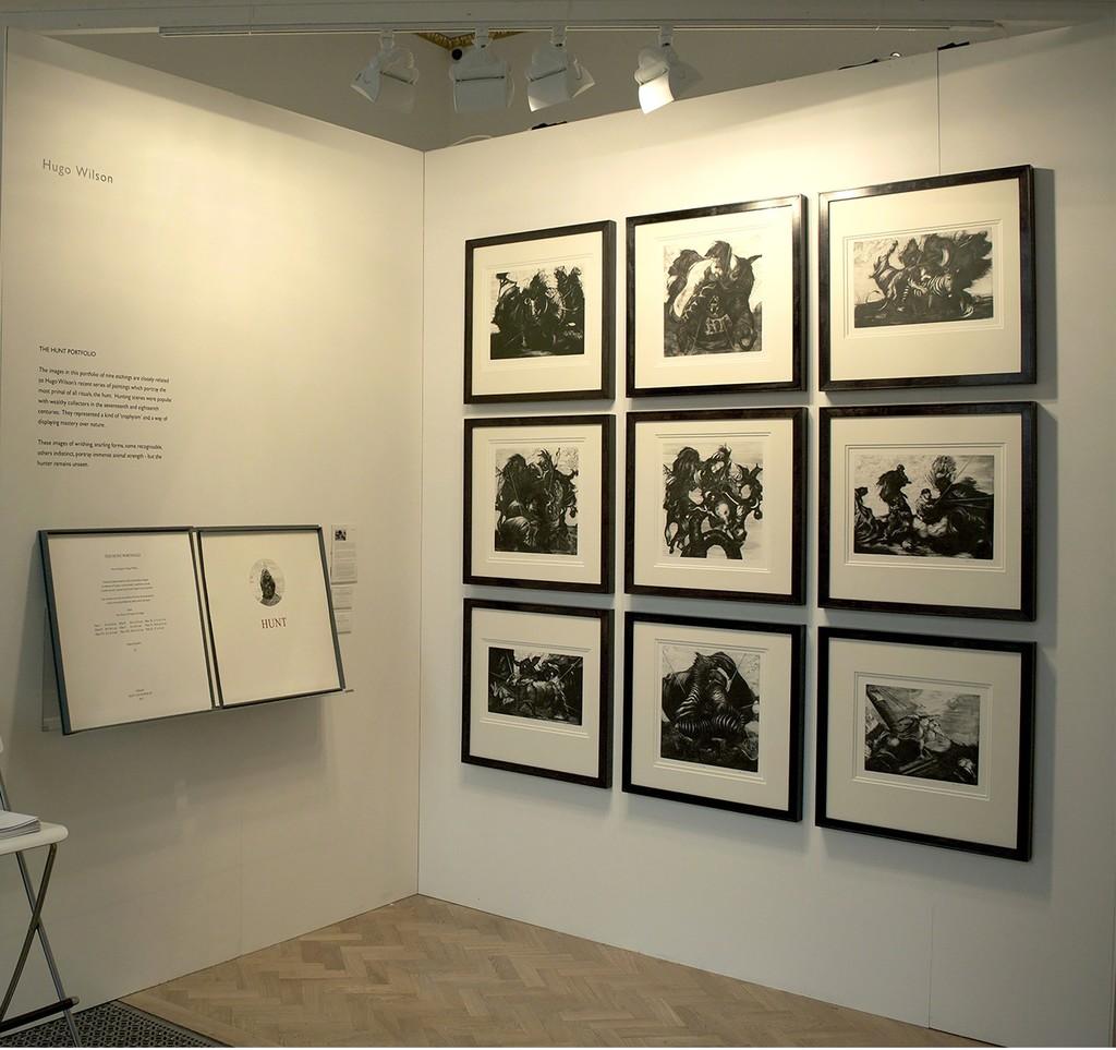 Pratt Contemporary at the London Original Print Fair 2016  Publication of the complete set of nine etchings by Hugo Wilson - The Hunt Portfolio.