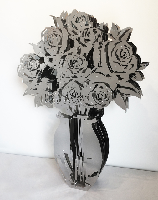 , 'Vase of Roses - Mirrored Stainless 42,' 2018, FP Contemporary