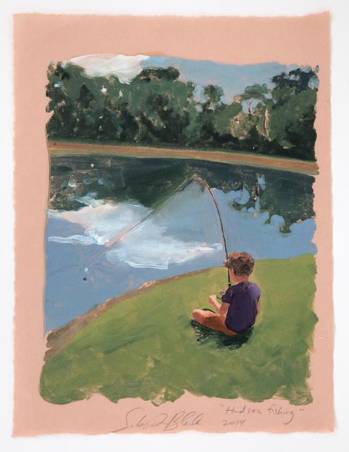 Sebastian Blanck, 'Hudson Fishing', 2014, Print, Monoprint, Dubner Moderne