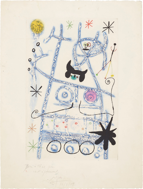 Joan Miró, 'Les forestiers (bleu) (The Foresters - blue)', 1958, Phillips