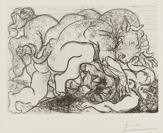 Minotaure attaquant une amazone (Minotaure Attacking an Amazon), plate 87 from La suite Vollard