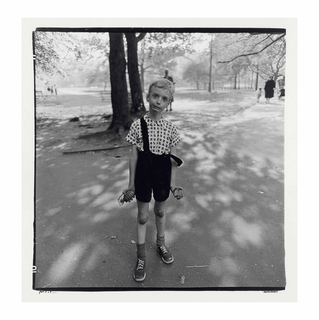 Diane Arbus, 'Child with a toy hand grenade in Central Park, N.Y.C., 1962', 1962, Christie's