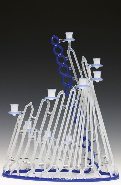 , 'Blue and White Menorah,' 2013, Chesterfield Gallery