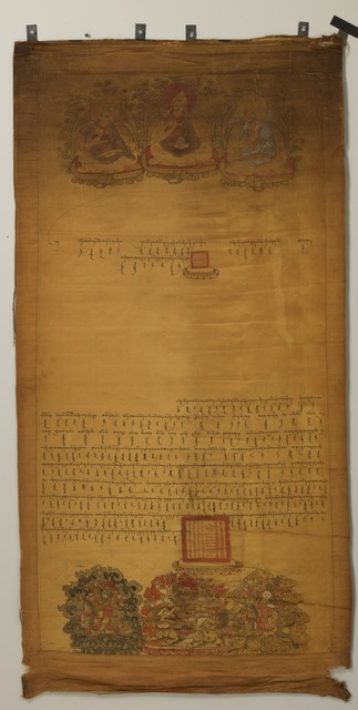 , 'Edict on Silk of the Fifth Dalai Lama or his Regent,' 1683, Rubin Museum of Art