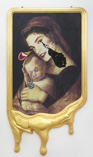 , 'CRYING PORTRAIT OF CINDY CRAWFORD AS A RENAISSANCE MADONNA WITH HOLY CHILD (AFTER ANDREA MANTEGNA),' 2010, Gagosian
