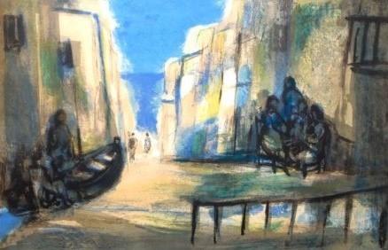 Marcel Mouly, 'Scene Peniscola', The Loft Fine Art