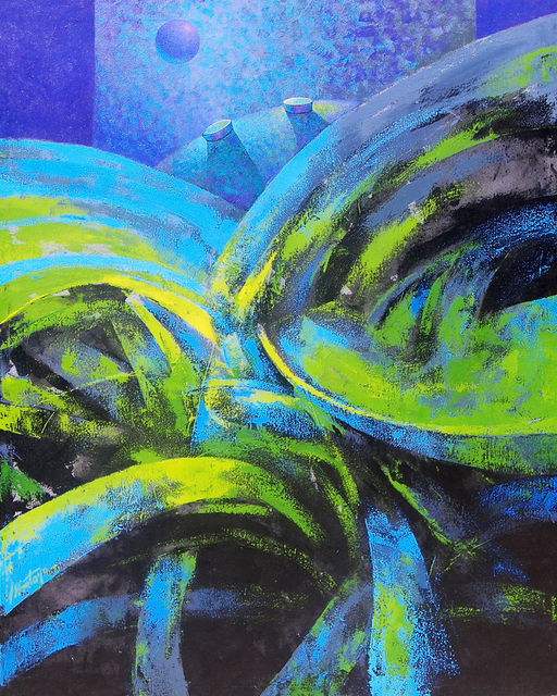 , 'Dancing Blue,' 2014, Rimonim Art Gallery