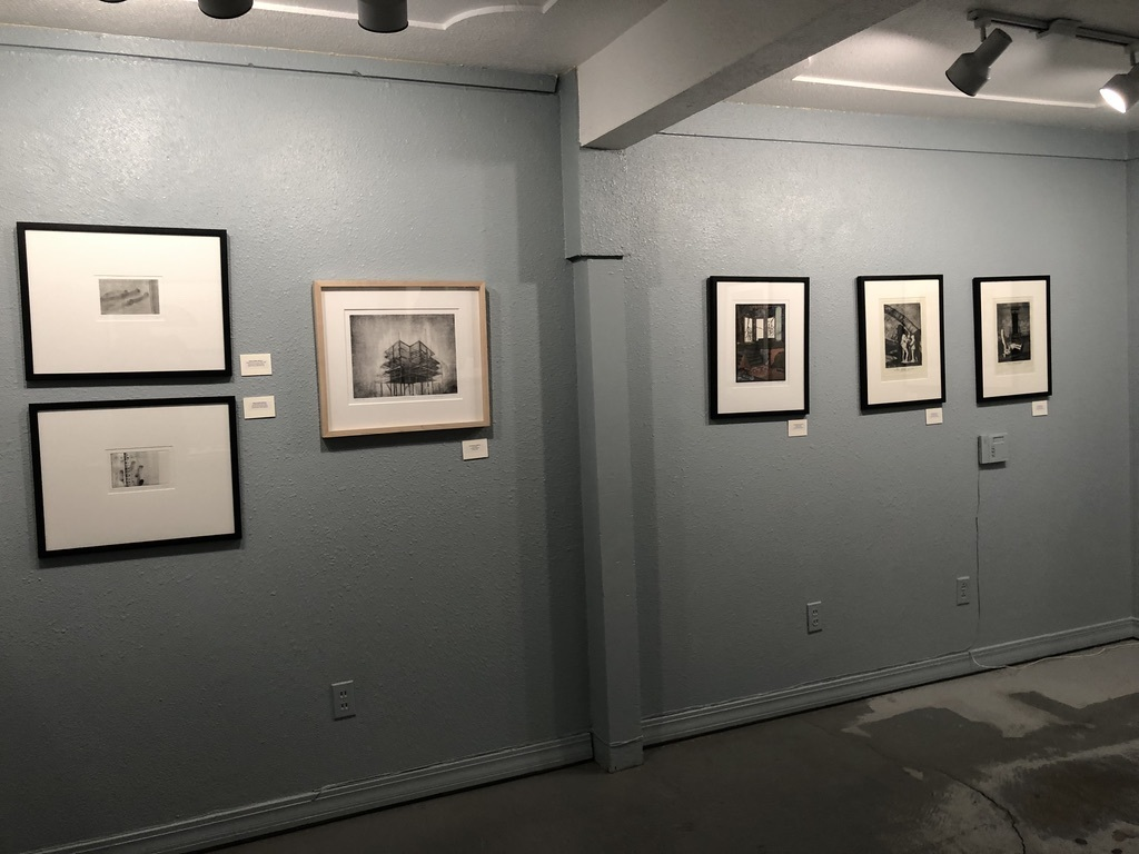Blue gallery east wall