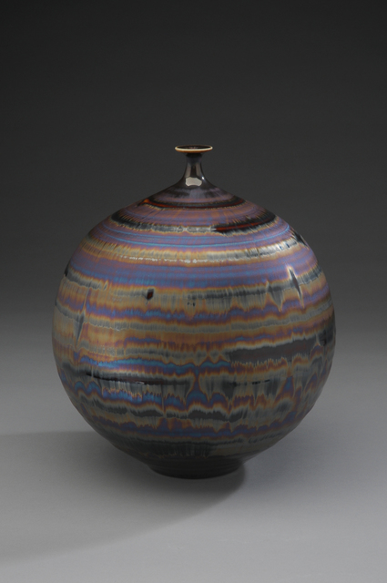 , 'Vase, blue hare's fur and brown glaze,' , Pucker Gallery