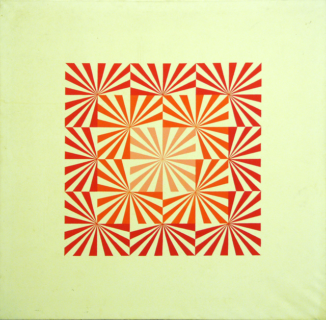 , 'Radial (Red),' 1969, acb