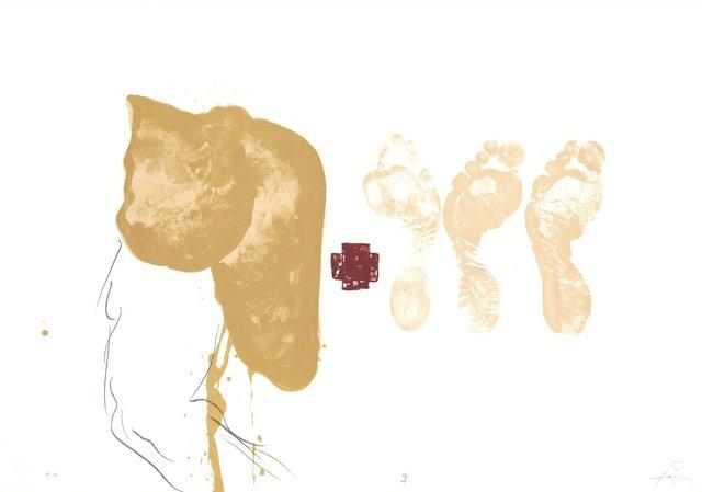 Antoni Tàpies, 'Drei Füsse - Suite IX', 1970-1980, ARTEDIO