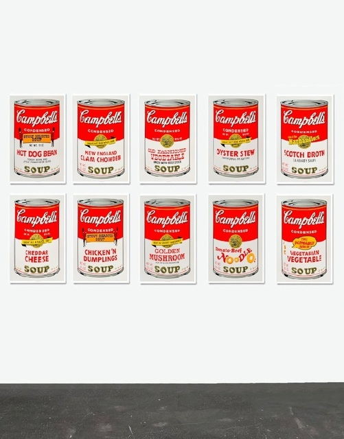 Andy Warhol, 'Campbell's Soup Can Series II Set- Sunday B. Morning (After)', ARTEDIO