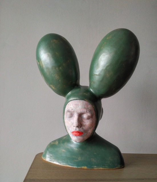 Iván Prieto, 'Rabbit in green', 2019, Sculpture, Ceramic, N2 Galería