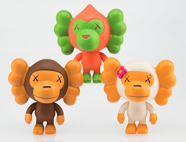 KAWS X BAPE, 'Baby Milo, set of three', 2005, Heritage Auctions