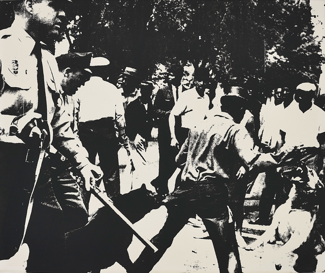Andy Warhol, 'Birmingham Race Riot, from Ten Works by Ten Painters', 1964, Print, Screenprint, on wove paper, the full sheet., Phillips