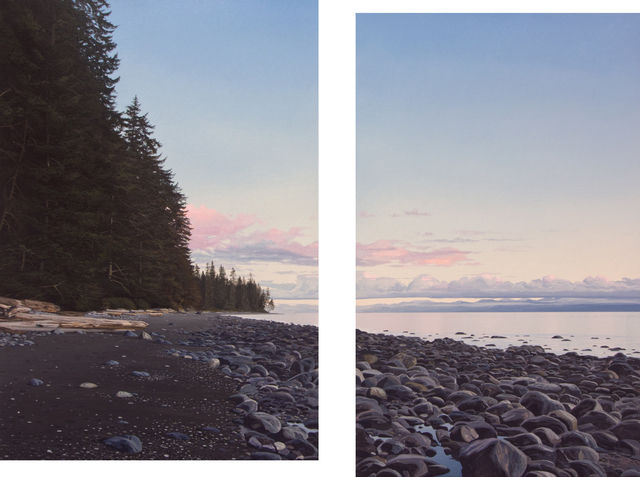 , 'China Beach, Evening (diptych),' 2017, Mira Godard Gallery