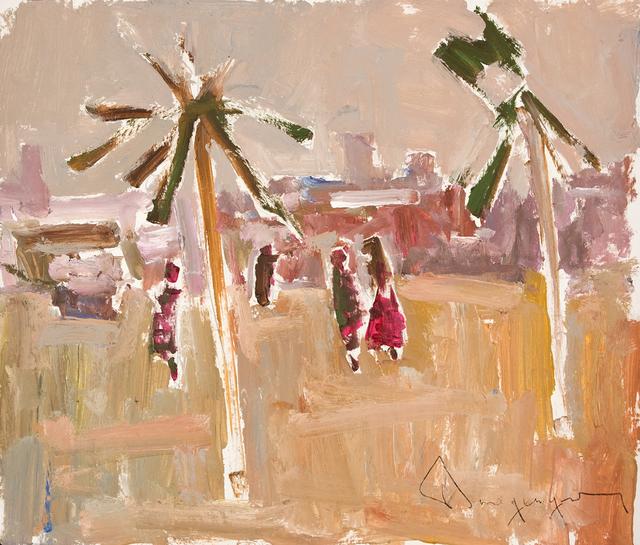 Paul-Henri Bourguignon, 'View of Morocco with Palm Trees', Eisele Fine Art