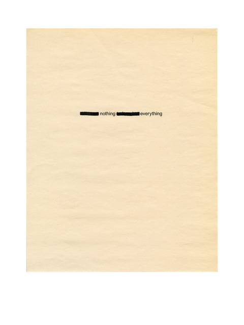 , 'Anonymous (Everything and Nothing),' 2013, Thomas Solomon Gallery