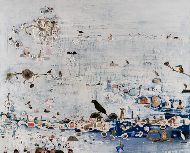 Liu Shih-Tung, 'Sea Level is Rising II', 2020, Painting, Mixed media on canvas, Lin & Lin Gallery