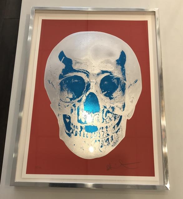 Damien Hirst, 'Till Death Do Us Part - Coral Red Silver Gloss True Blue Skull', 2012, Denis Bloch Fine Art