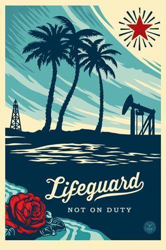 Shepard Fairey, 'Lifeguard not on duty', 2017, DIGARD AUCTION