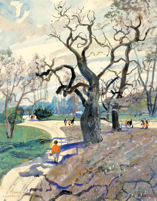 , 'Early spring in the Laxenburger castle's park,' ca. 1930, Galerie Kovacek & Zetter
