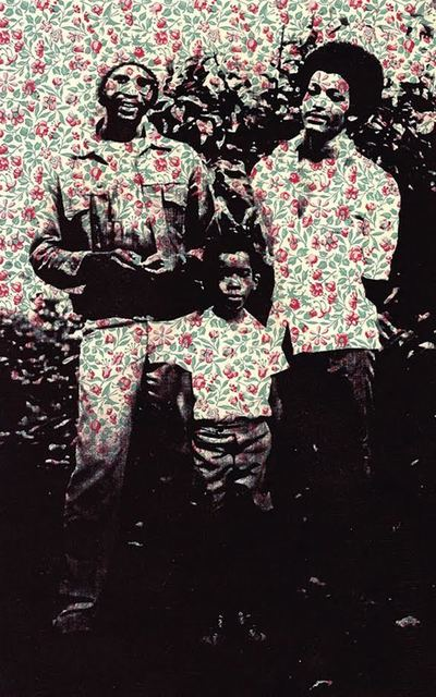 , 'Yard Boys (before we left home) Granny's Wallpaper Series,' 2011, LatchKey Gallery