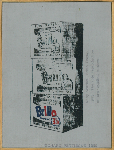 ", 'Andy Warhol, ""Brillo Boxes"", 1963; The rote reproduction of pre-existing images,' 1965, Collectors Contemporary"
