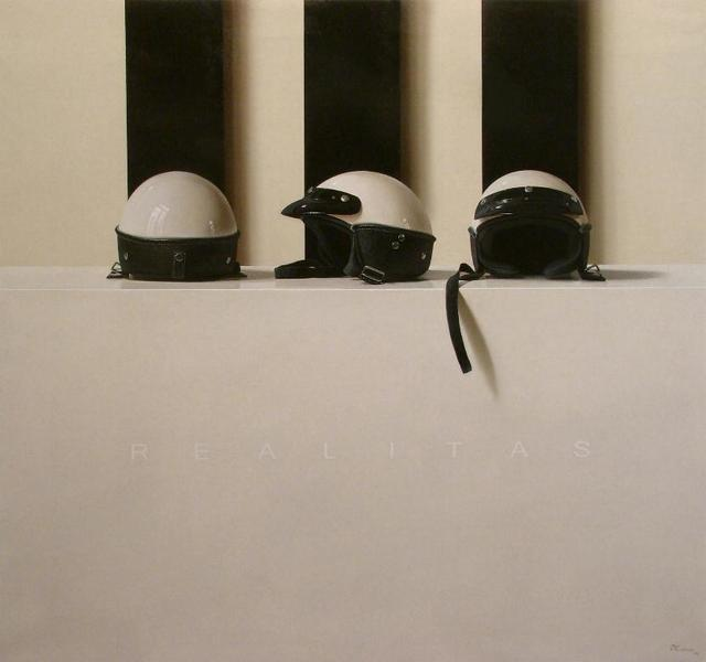 Fernando O'Connor, 'Three Helmets ', Painting, Oil on canvas, Plus One Gallery