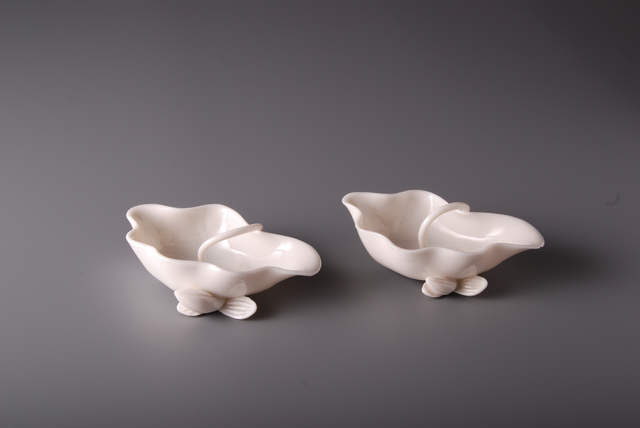 , 'Pair of Lotus Brushwashers,' China, Kangxi Period (1662, 1722) , Vanderven Oriental Art