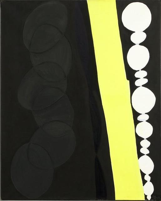 , 'Schwarz mit gelbem Band,' 1966, Ben Brown Fine Arts