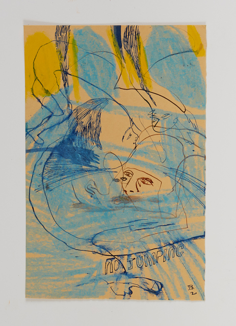 Samuel Bassett, 'Up Garrack Swimming', 2020, Drawing, Collage or other Work on Paper, Work on paper, Vigo Gallery