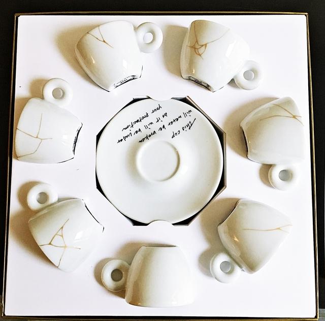 Yoko Ono, 'Suite of Seven (7) Unbroken Teacups and Saucers', 2015, Alpha 137 Gallery