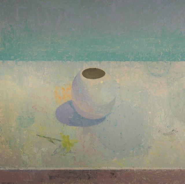 , 'White Vase,' 2016, Thomas Deans Fine Art