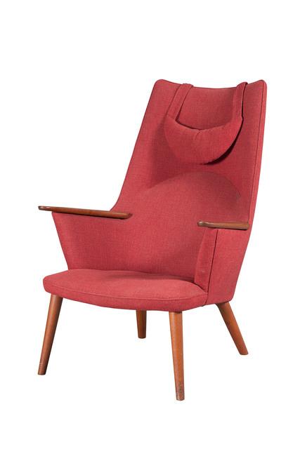 'Hans Wegner Upholstered Teak Model AP 27 Armchair', Doyle
