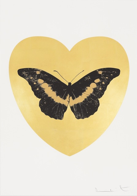 Damien Hirst, 'I Love You - gold leaf, black, cool gold ', 2015, Paul Stolper Gallery