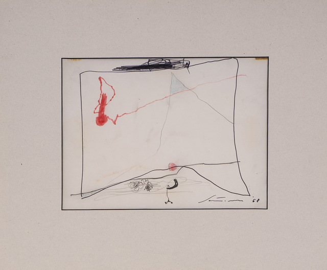Giuseppe Santomaso, 'Senza Titolo', 1968, Drawing, Collage or other Work on Paper, Pencil and markers on paper, Itineris
