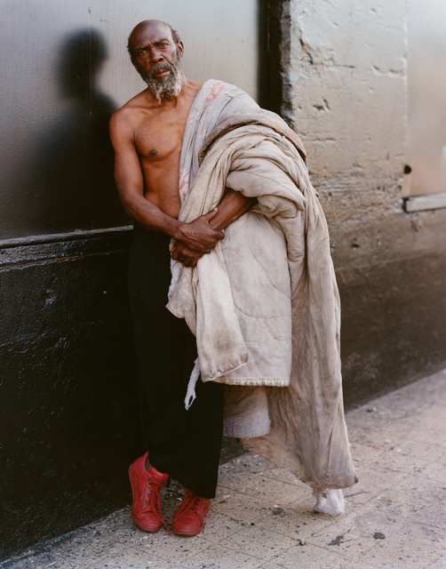 , 'A Homeless Man with His Bedding, New York, New York, July 1994,' 1994, Buchmann Galerie