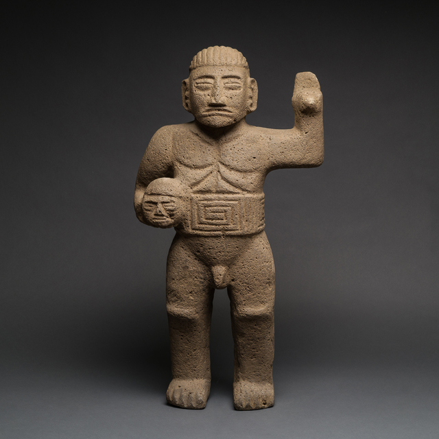 Unknown Pre-Columbian, 'Basalt Sculpture Of Standing Warrior', 500 AD to 1000 AD, Barakat Gallery