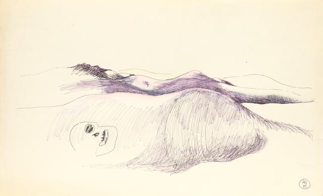 , 'Paysage humain (du cycle « Paysages humains ») ,' 1971, Loevenbruck