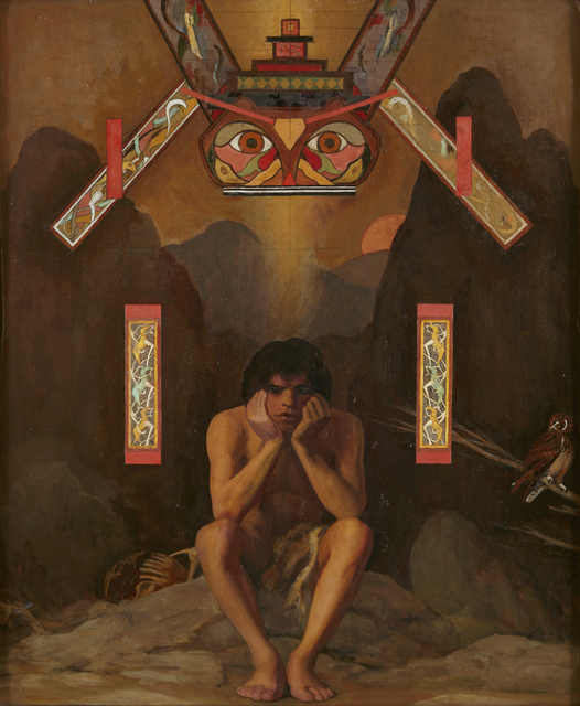 , 'Figure with Totem,' ca. 1980, Childs Gallery