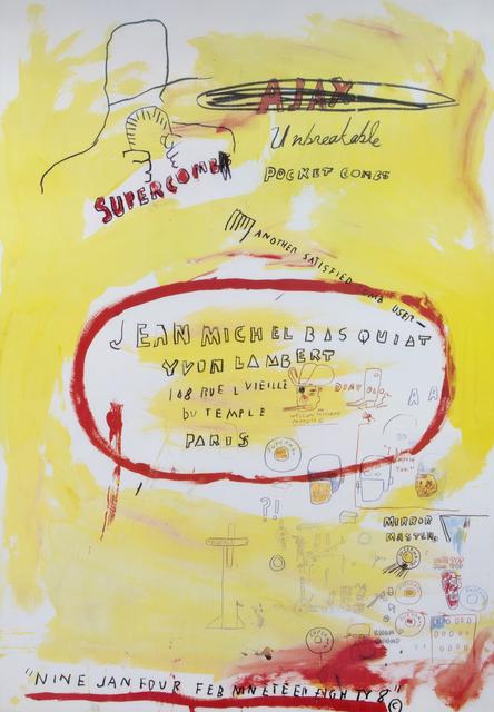 Jean-Michel Basquiat, 'Supercomb', 1988, Julien's Auctions