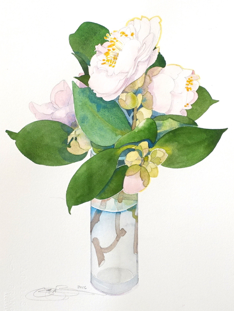 , 'Camellias III,' , The Bonfoey Gallery