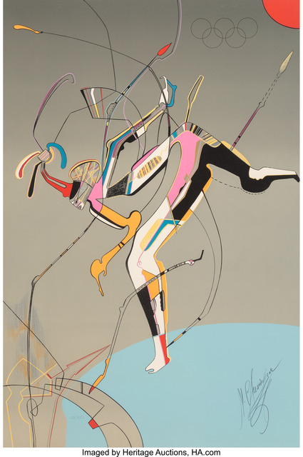 Mihail Chemiakin, 'Runner, from Official Arts Portfolio of the XXIVth Olympiad, Seoul, Korea', 1988, Print, Silkscreen in colors on wove paper, Heritage Auctions