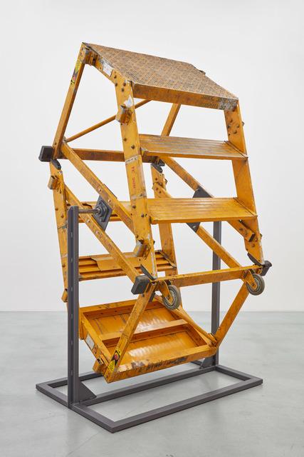 Sofia Hultén, 'Ok ok ok ok ok', 2019, Installation, Two stepladders, steel bearings, steel stand, Galerie Nordenhake