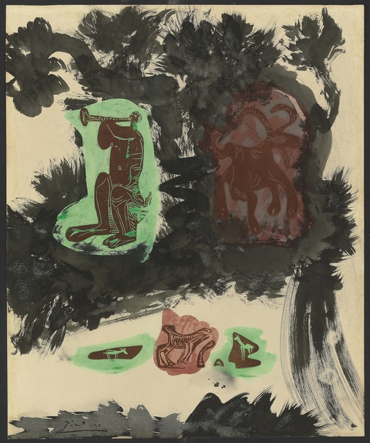 Pablo Picasso, 'Paysage avec faune et chèvre', 1963, De Jonckheere