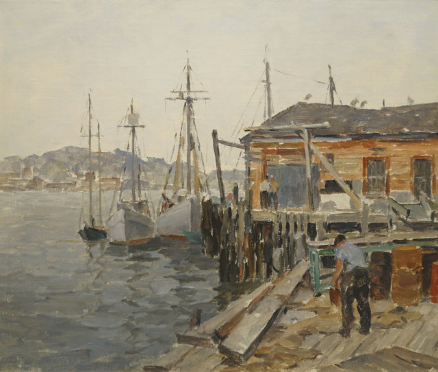 James J. Grant, 'Gloucester Dock Scene', 19th -20th Century, Vose Galleries