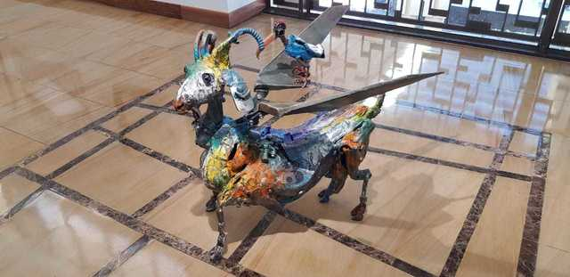 , 'Flying Goat ,' 2019, The Melrose Gallery